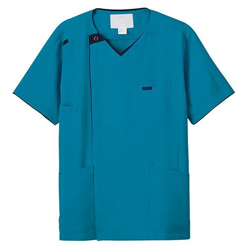 メンズニットスクラブ販売。刺繍、プリント加工対応します。研修医、医療チームウェアに人気