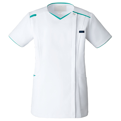 レディスジップスクラブ販売。刺繍、プリント加工対応します。研修医、医療チームウェアに人気