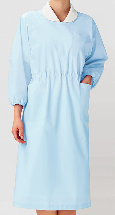 カゼン 予防衣七分袖(男女兼用)販売。刺繍、プリント加工対応します。研修医、医療チームウェアに人気