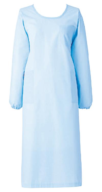 カゼン 予防衣長袖(男女兼用)販売。刺繍、プリント加工対応します。研修医、医療チームウェアに人気