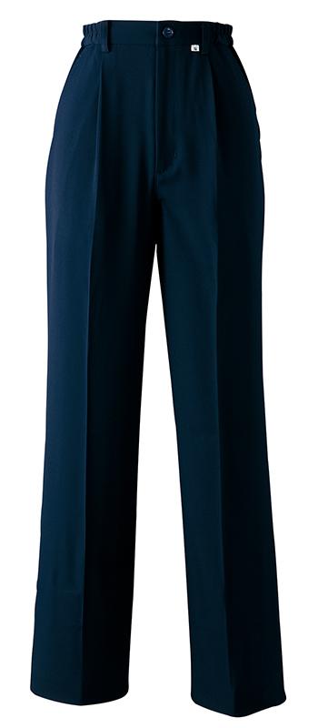 レディスワンタックパンツ(脇ゴム)<旧・高浜ユニフォーム>販売。刺繍、プリント加工対応します。研修医、医療チームウェアに人気