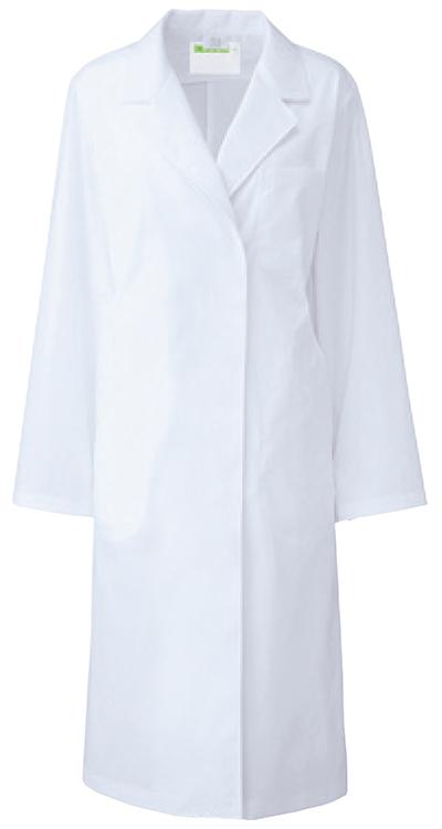 カゼン レディス診察衣S型長袖/白衣販売。刺繍、プリント加工対応します。研修医、医療チームウェアに人気
