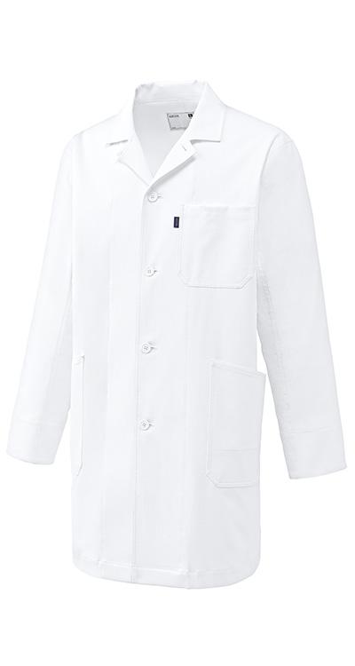 ドクターコート(長袖)(男女兼用)販売。刺繍、プリント加工対応します。研修医、医療チームウェアに人気