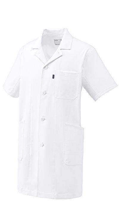 ドクターコート(半袖)(男女兼用)販売。刺繍、プリント加工対応します。研修医、医療チームウェアに人気