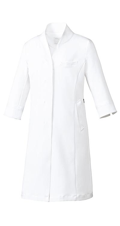 ミッシェルクラン レディースドクターコート(七分袖)/白衣販売。刺繍、プリント加工対応します。研修医、医療チームウェアに人気