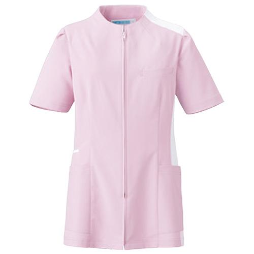 カゼン レディスジャケット半袖販売。刺繍、プリント加工対応します。研修医、医療チームウェアに人気