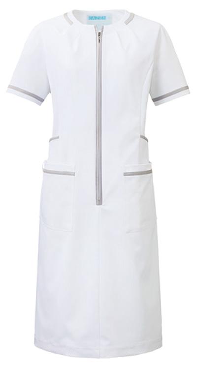 カゼン ワンピース半袖販売。刺繍、プリント加工対応します。研修医、医療チームウェアに人気
