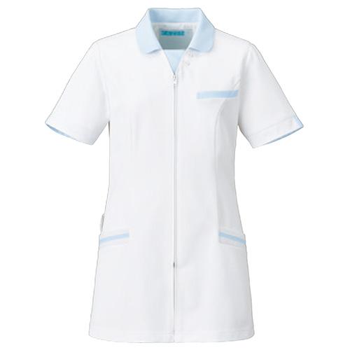 カゼン レディスジャケット半袖(看護学生衣としても最適)販売。刺繍、プリント加工対応します。研修医、医療チームウェアに人気