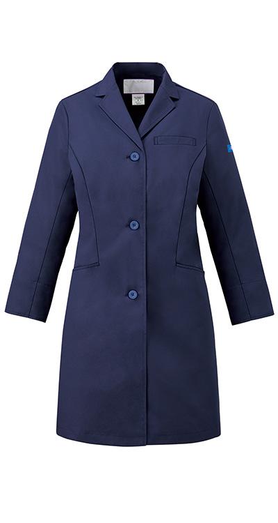 ディッキーズ レディスシングルコート販売。刺繍、プリント加工対応します。研修医、医療チームウェアに人気