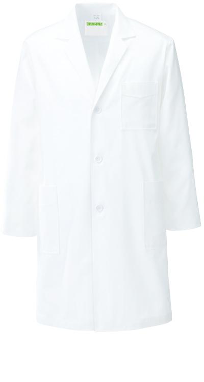 カゼン メンズ診察衣/白衣(ハーフ丈)販売。刺繍、プリント加工対応します。研修医、医療チームウェアに人気