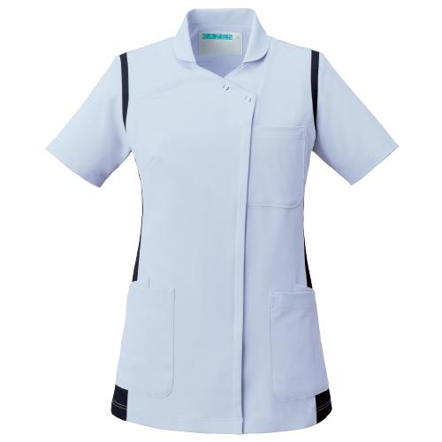 カゼン レディススクラブ(衿付)販売。刺繍、プリント加工対応します。研修医、医療チームウェアに人気