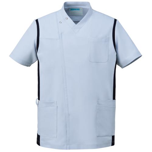 カゼン メンズスクラブ(前開き)販売。刺繍、プリント加工対応します。研修医、医療チームウェアに人気