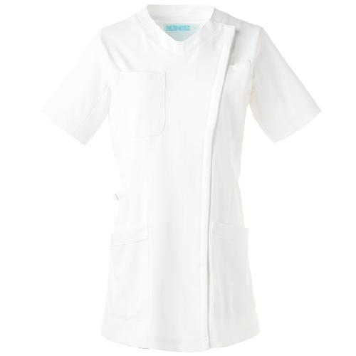 カゼン レディススクラブジャケット(半袖)販売。刺繍、プリント加工対応します。研修医、医療チームウェアに人気