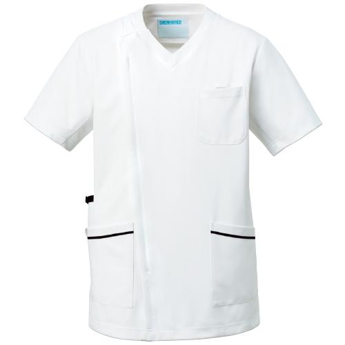 カゼン メンズスクラブジャケット半袖販売。刺繍、プリント加工対応します。研修医、医療チームウェアに人気