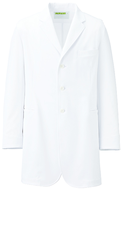 カゼン メンズ診察衣/白衣販売。刺繍、プリント加工対応します。研修医、医療チームウェアに人気