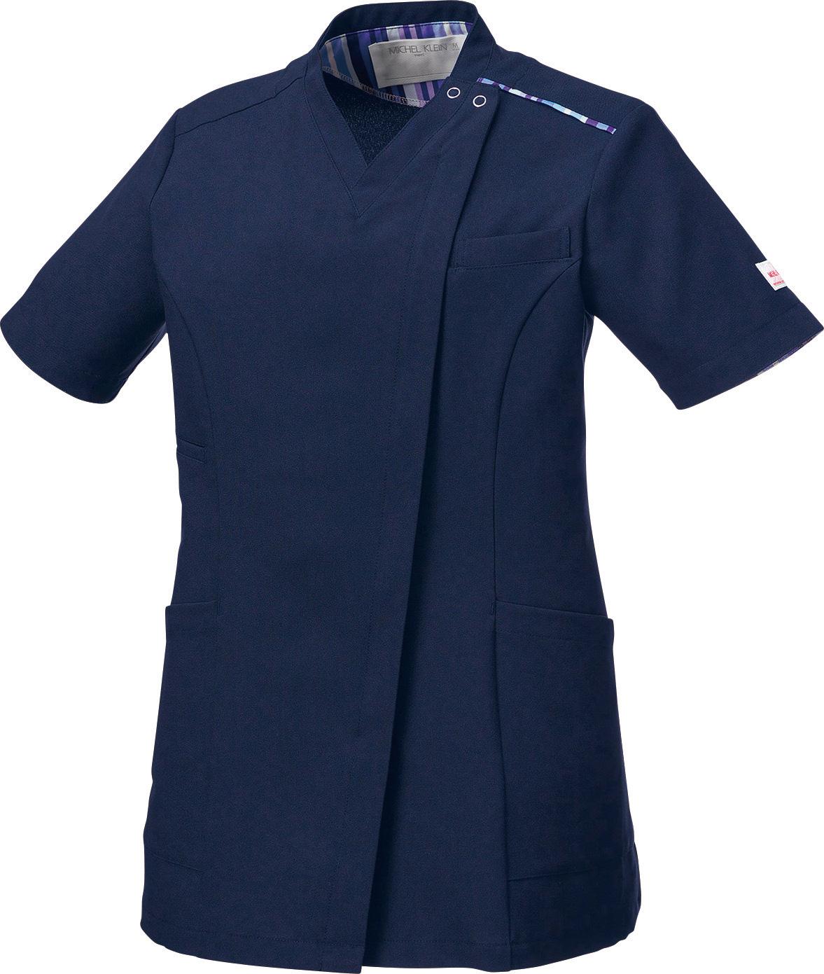 ミッシェルクラン レディースファスナースクラブ販売。刺繍、プリント加工対応します。研修医、医療チームウェアに人気