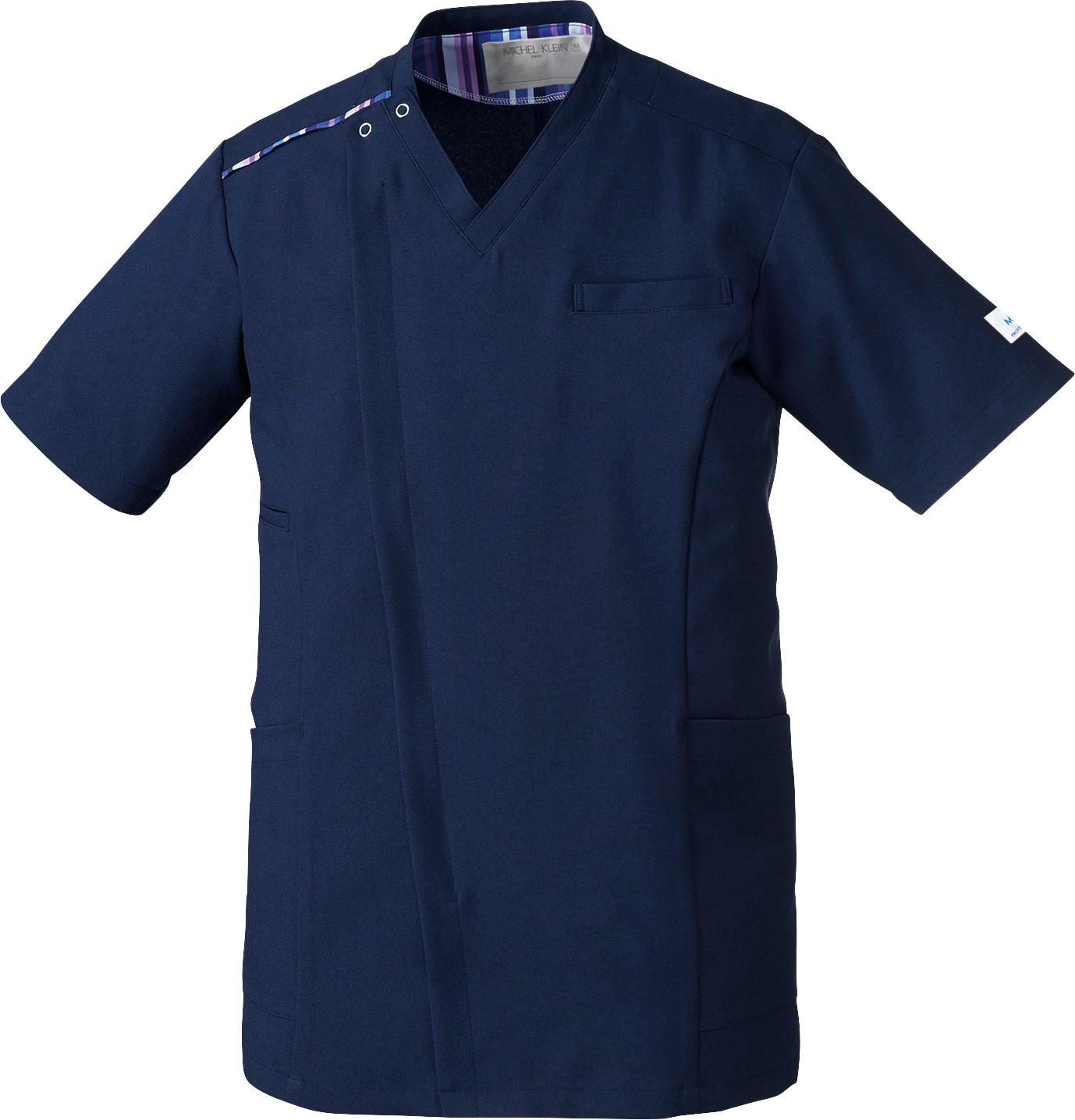 ミッシェルクラン メンズファスナースクラブ販売。刺繍、プリント加工対応します。研修医、医療チームウェアに人気