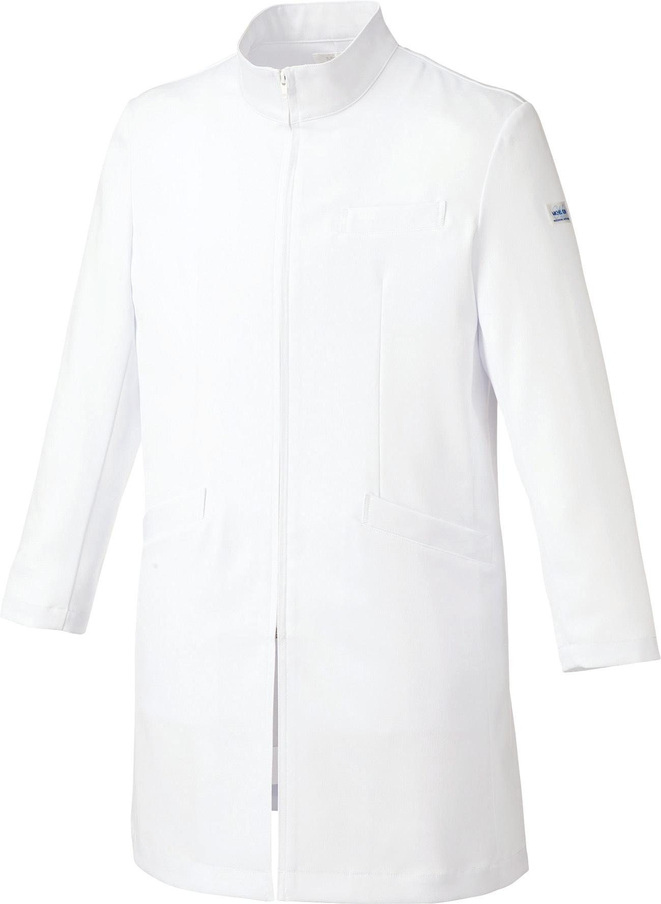 ミッシェルクラン メンズドクターコート/白衣販売。刺繍、プリント加工対応します。研修医、医療チームウェアに人気