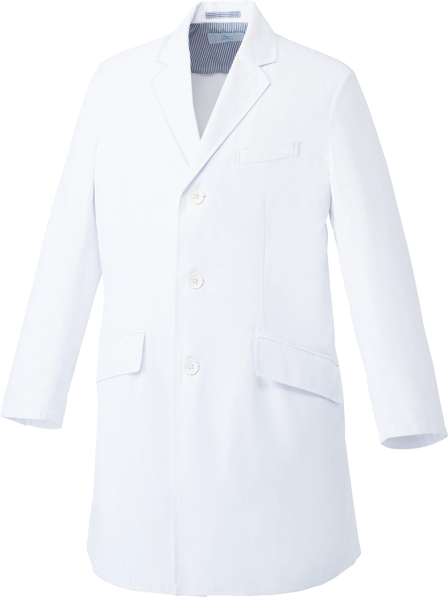 ミズノ ドクターコート/白衣(メンズ)販売。刺繍、プリント加工対応します。研修医、医療チームウェアに人気