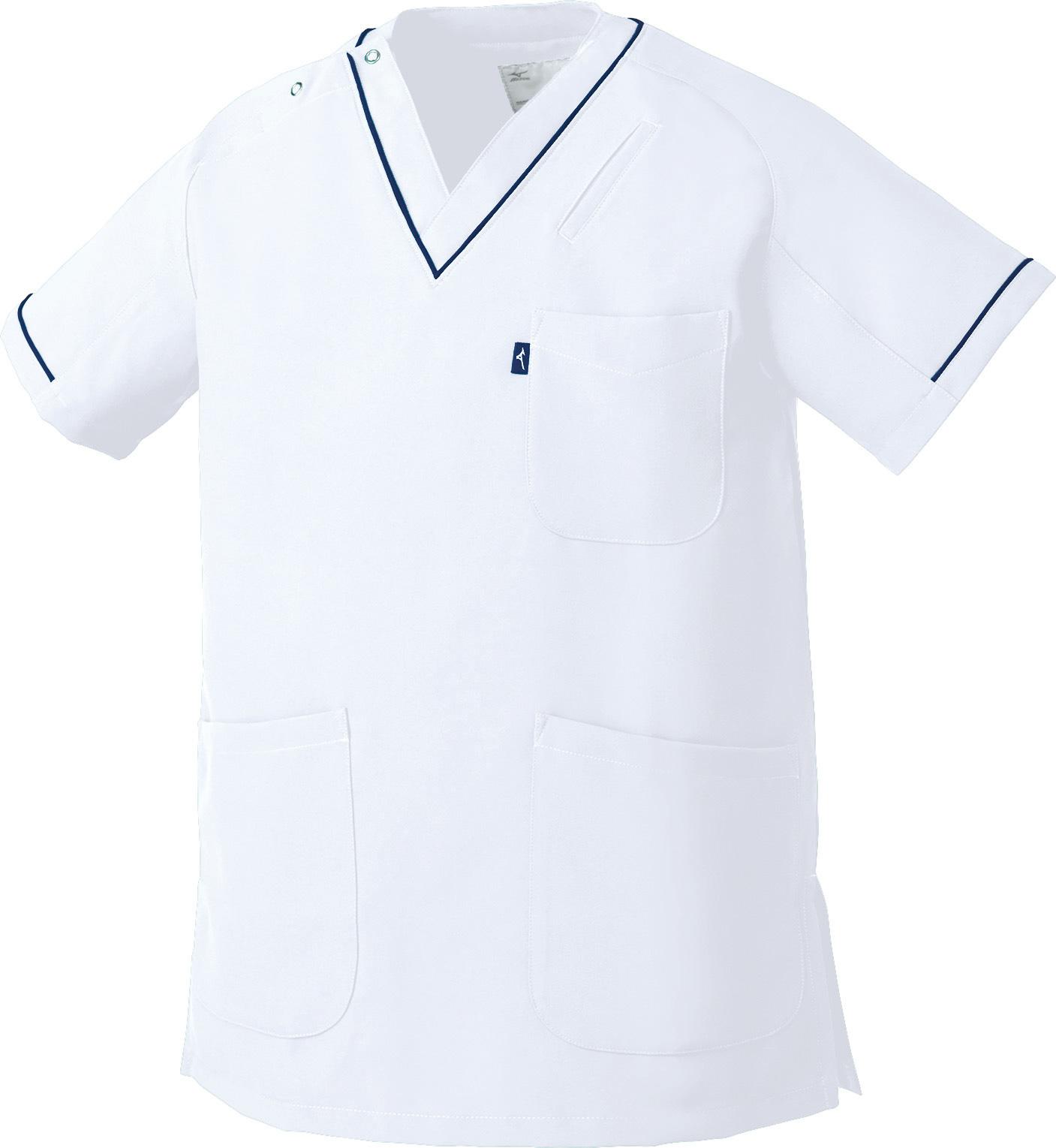 ミズノ スクラブ(男女兼用)販売。刺繍、プリント加工対応します。研修医、医療チームウェアに人気