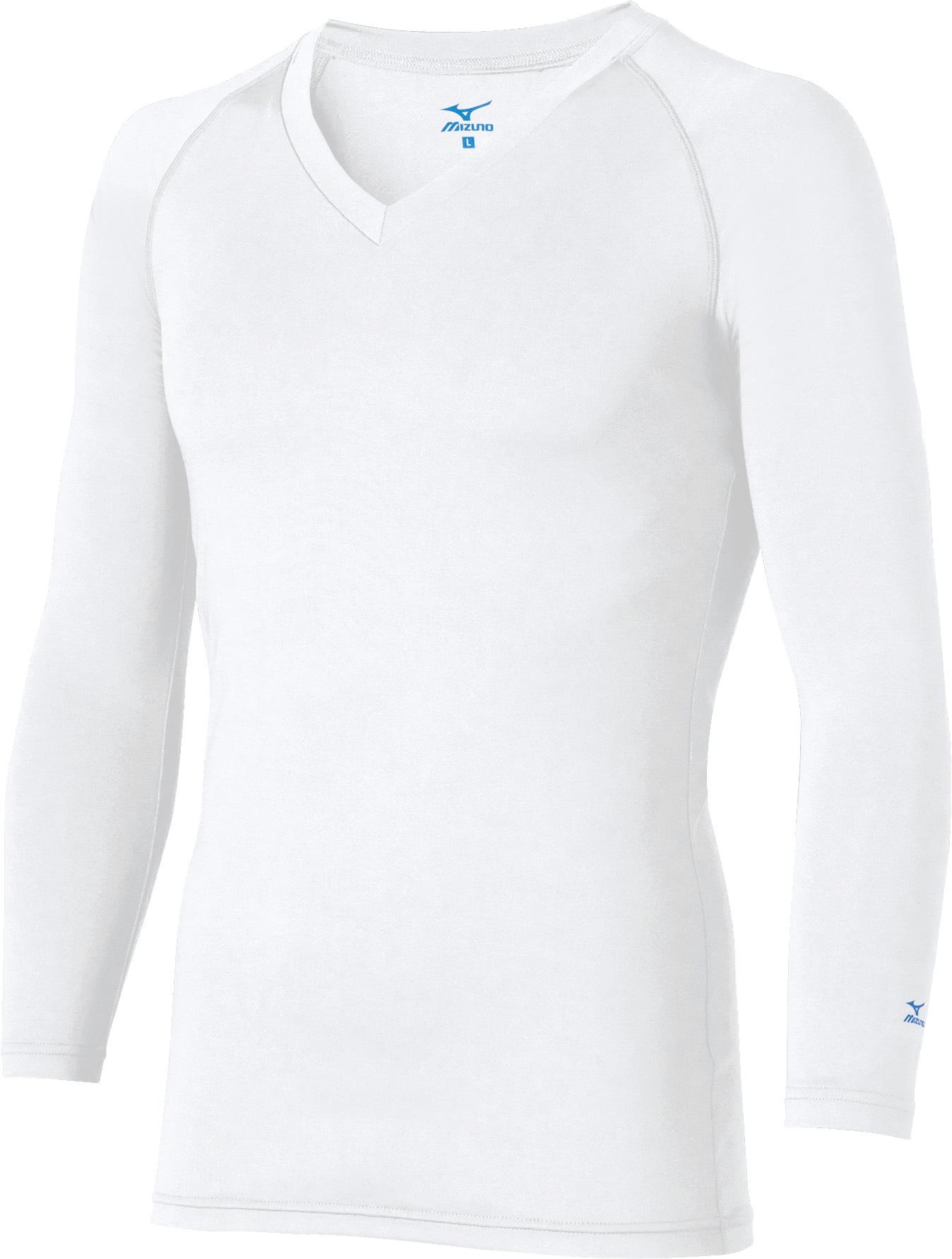 ミズノ アンダーウェア(9分袖)(メンズ)販売。刺繍、プリント加工対応します。研修医、医療チームウェアに人気
