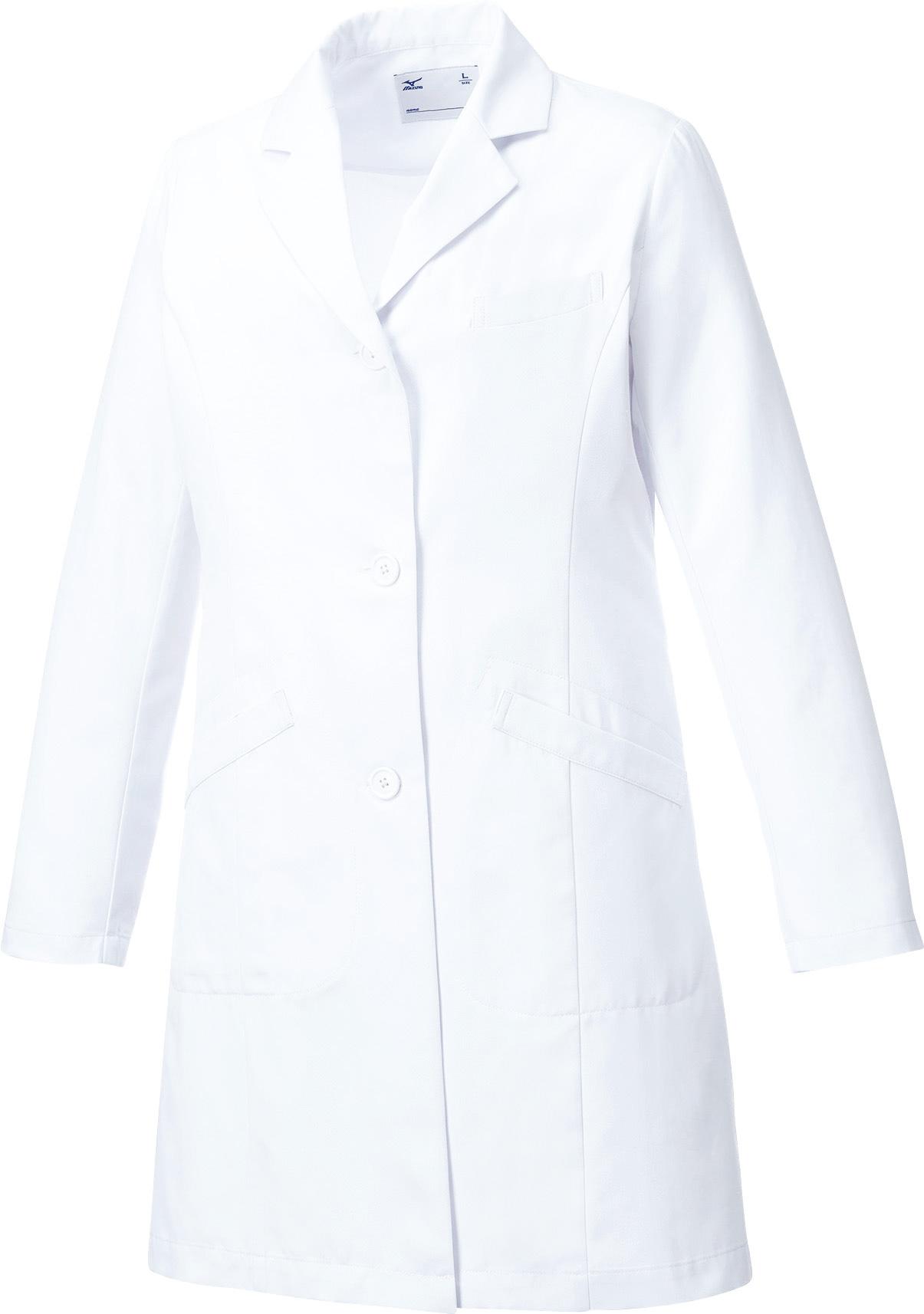 ミズノ ドクターコート/白衣(レディース)販売。刺繍、プリント加工対応します。研修医、医療チームウェアに人気