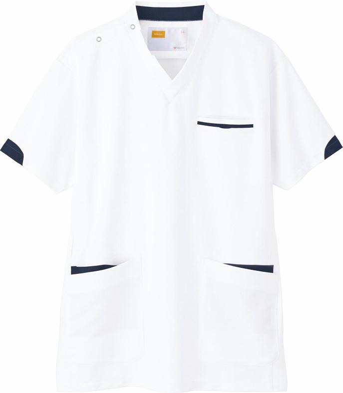 ホワイセル スクラブ(男女兼用)販売。刺繍、プリント加工対応します。研修医、医療チームウェアに人気