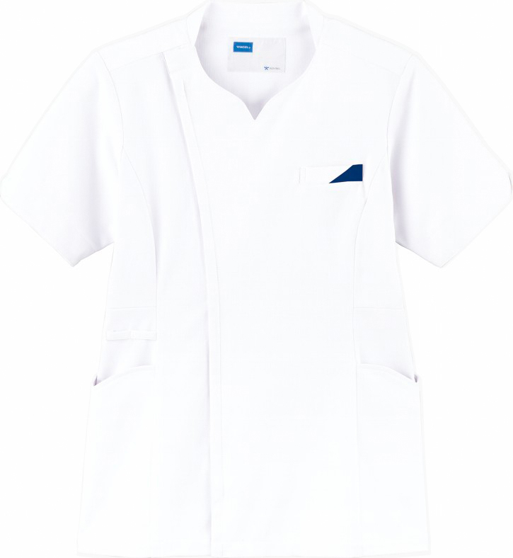 ホワイセル レディーススクラブ販売。刺繍、プリント加工対応します。研修医、医療チームウェアに人気