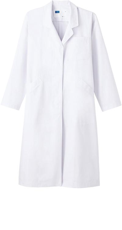 ホワイセル レディースシングルコート/白衣販売。刺繍、プリント加工対応します。研修医、医療チームウェアに人気