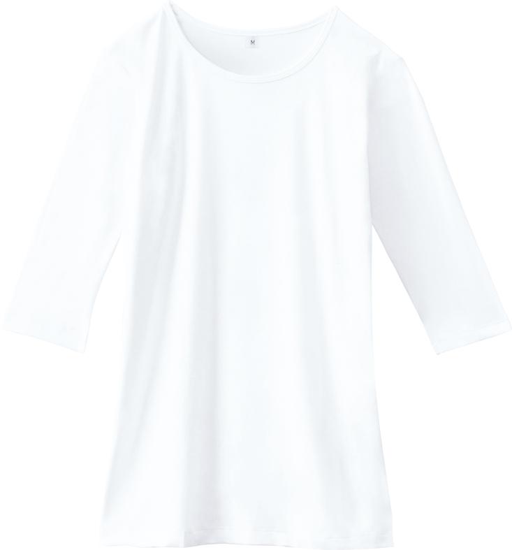 ホワイセル 七分袖インナーTシャツ販売。刺繍、プリント加工対応します。研修医、医療チームウェアに人気