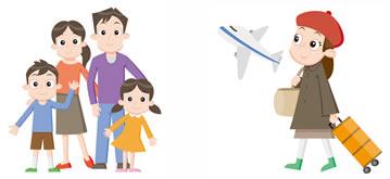 家族と旅行