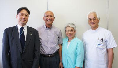 中西さんご夫妻と吉田先生と米田先生