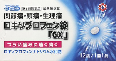 ロキソプロフェン錠「GX」の写真
