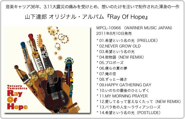 山下達郎「RAY OF HOPE」