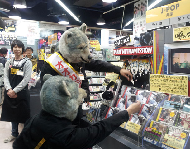 MAN WITH A MISSION、タワー渋谷店の1日店長に就任
