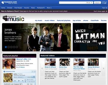 MySpaceミュージック