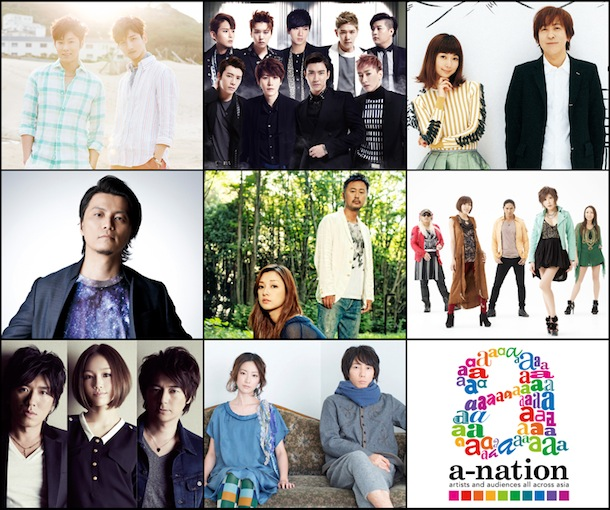 a-nation2013 8月31日 東方神起、SUPER JUNIOR、Every Little Thing、KREVA、Do As Infinity、TRF、girl next door、moumoon