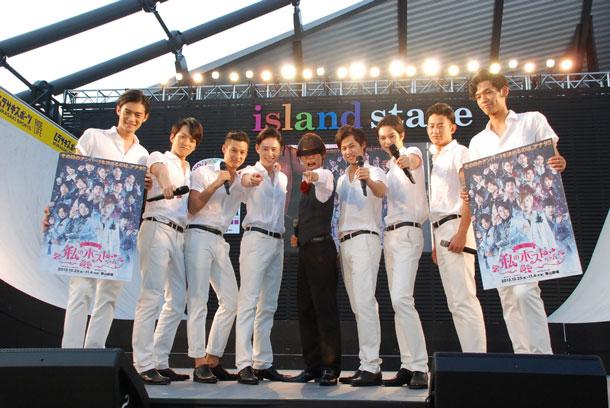 甘王がa-nationに乱入、SOLIDEMOに舞台「私のホストちゃん」出演を指名