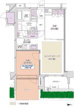 『レリアモード豪徳寺』平面図2s