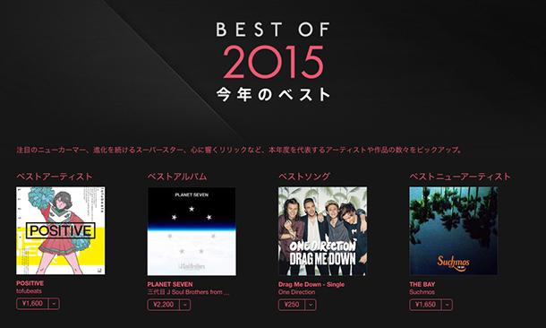 Apple「Best of 2015 今年のベスト」トップページ
