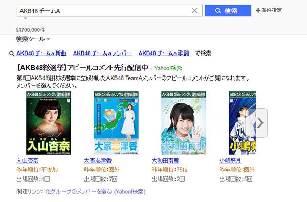 「AKB48-45th-シングル-選抜総選挙」Yahoo!検索