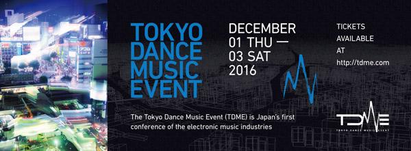 「TOKYO DANCE MUSIC EVENT」フライヤー