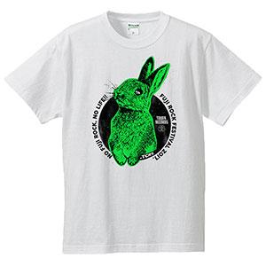 「NO FUJIROCK, NO LIFE!」2017 MADBUNNY Tシャツ黄緑