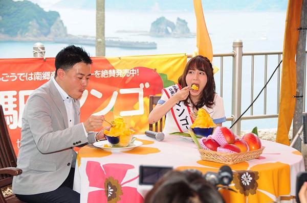 SKE48・大場美奈、宮崎県マンゴー町の1日町長に就任3