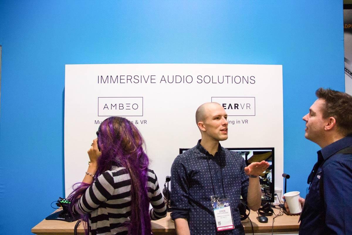 SENNHEISER VR関連展示 NAMMショー 2019