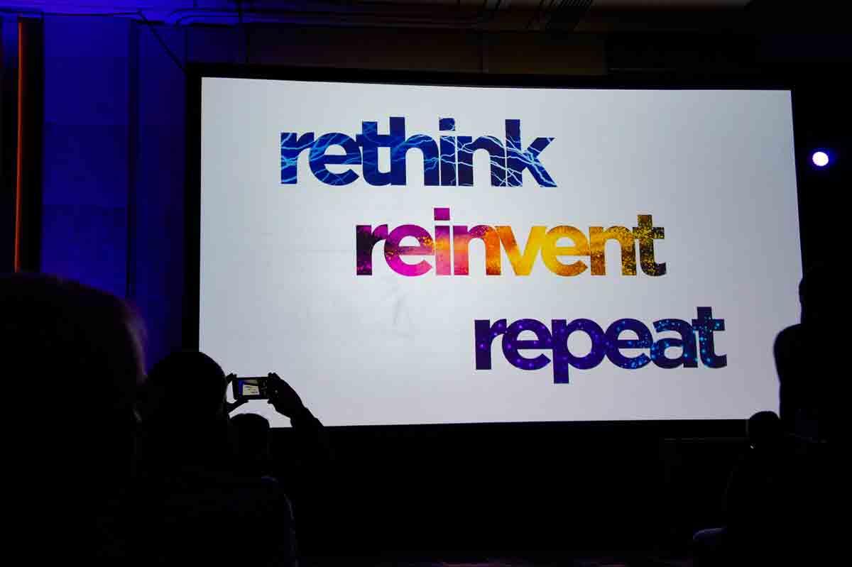 「rethink=再考」して「reinvent=再構築」して「repeat=繰り返す」