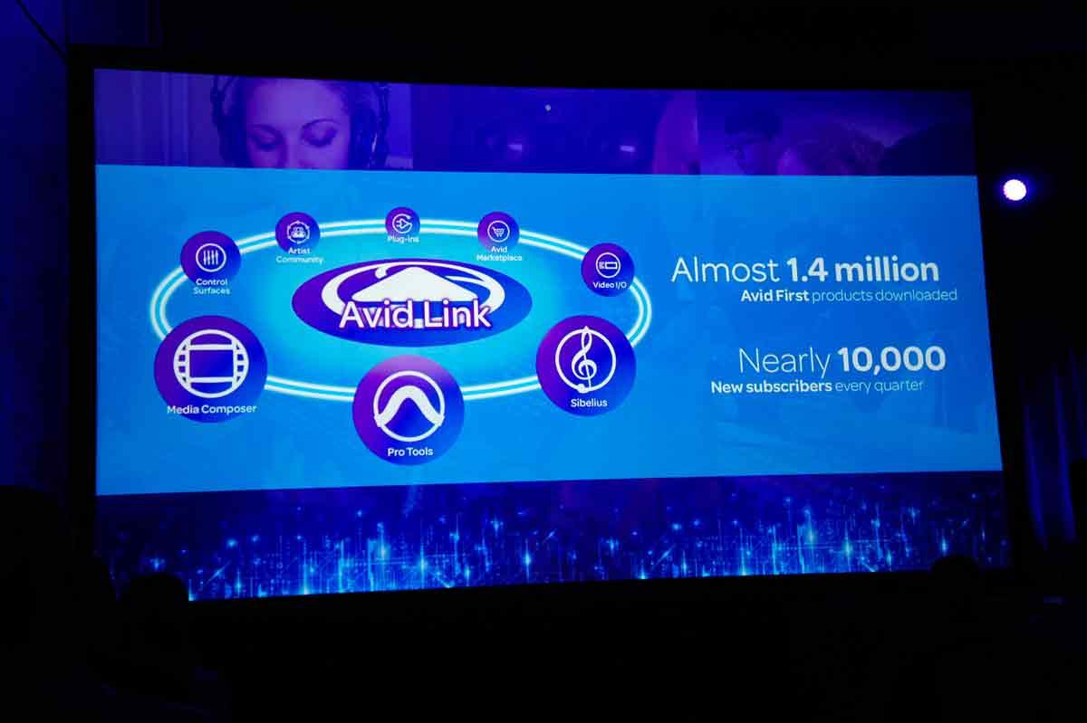 Avid Firstプロダクトのダウンロード数は1.4million=140万