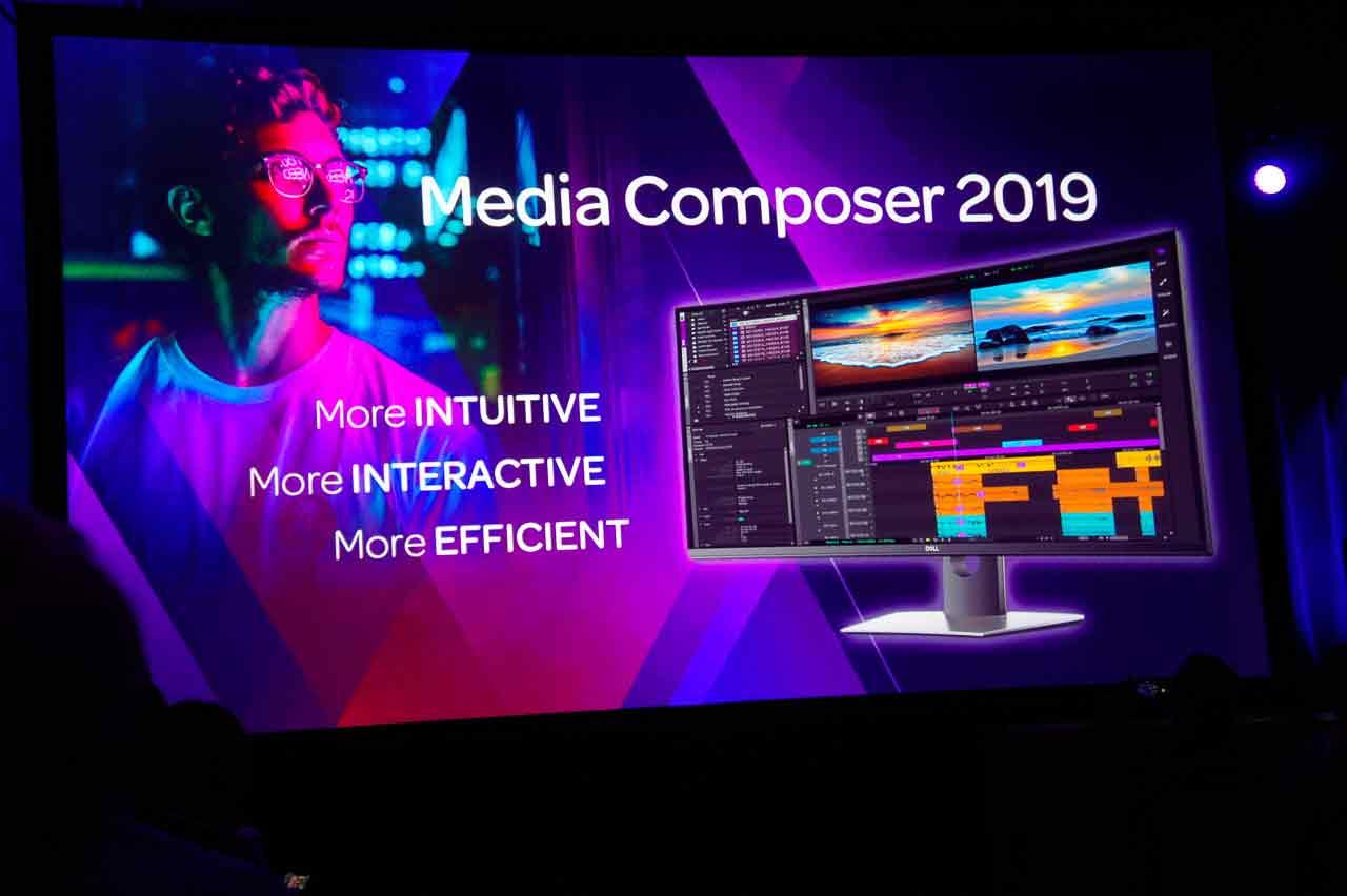 AVID CONNECT 2019の最大の目玉となったのが、こちらのMedia Composer 2019。