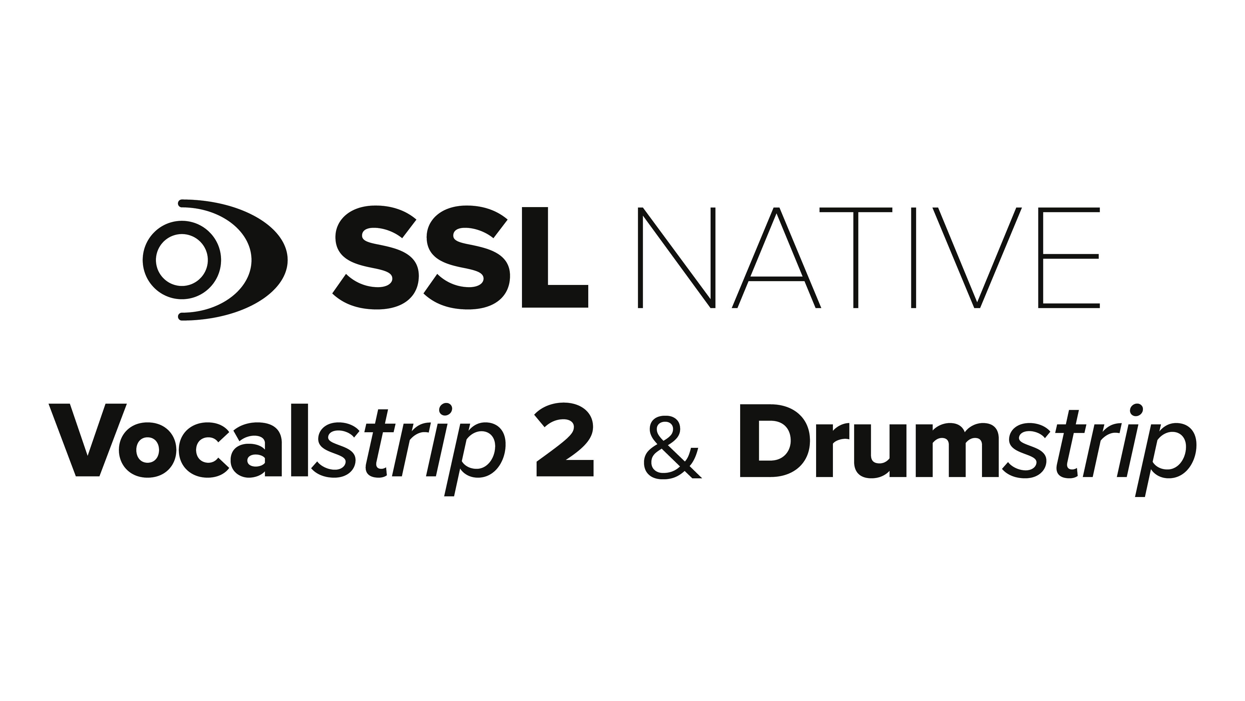 SSL Native Vocal and drum strip logo