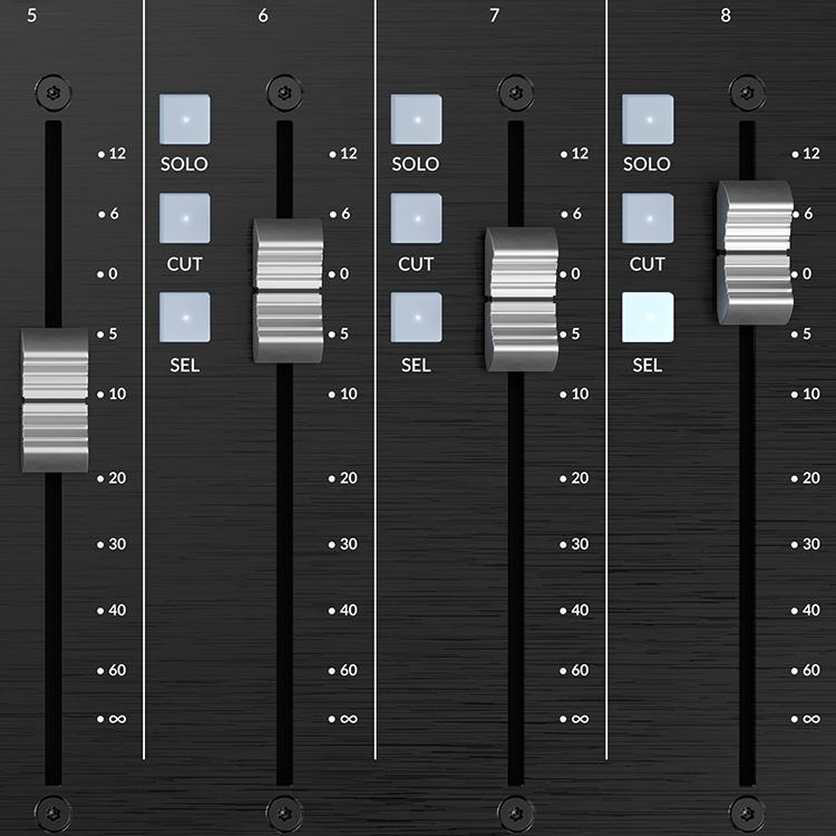 100mm faders